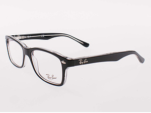 Ray Ban Brille RB1531-3529-48 top black on transparent