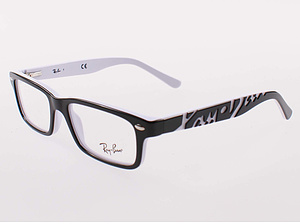 Ray Ban Brille RB1535-3579-48 top black on white